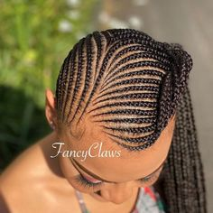 Designed Lemonade Braids Ponytail ❤ #lovehairstyles #hair #hairstyles #haircuts