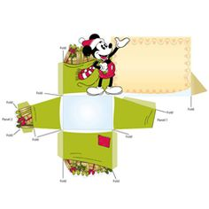 Free Disney Christmas Printable Mickey Mouse Place Card Holder