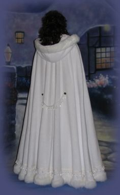 red winter wedding cloaks | Our Crystal Promise Full Length Cloak is a custom fit cloak. Please ...