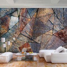 Stone Wall Design, Wall Decor Design, Brick Design, Ceiling Design, Home Room Design, Home Interior Design, Interior And Exterior, Photo Wallpaper, Wall Wallpaper