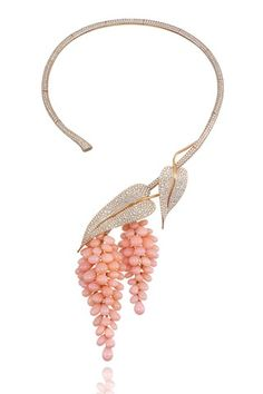 Chopard Pink Opal And Diamond Necklace