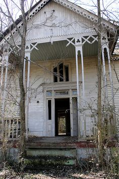 Abandoned Mooresville, TN. Out the back door was a porch, which was also beyond repair. 02.13.2014