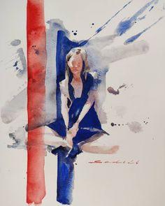 Blue Magic, Watercolor Paintings, Artist, Instagram, Water Colors, Artists, Watercolour Paintings, Watercolor Painting