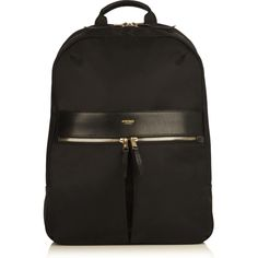 Beauchamp Laptop Backpack from KNOMO: Official Store | Womens Laptop Bag | Sleek Nylon Black Backpack | Designed by KNOMO London