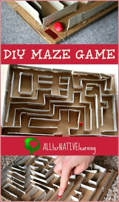 DIY Maze Game using Cardboard Tubes Gloucestershire Resource Centre… Crafts To Do, Diy Crafts For Kids, Art For Kids, Simple Crafts, Daycare Crafts, 4 Kids, Craft Ideas, Children, 3d Maze