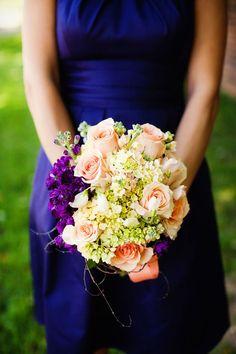 wedding, bouquet, bridesmaids