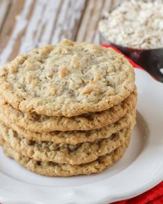 A delicious twist on the classic oatmeal cookie! These Oatmeal Coconut Cookies are so soft, chewy, tasty - it's impossible to only eat one! These coconut cookies are so simple and easy to make, you'll want to make them all the time!