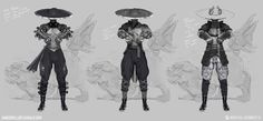 Exploration of Kung Lao, Mortal Kombat X Concept Art World, Game Concept Art, Character Concept, Character Art, Character Design, Kung Lao, Mortal Kombat Art, Steampunk Characters, Monster Characters