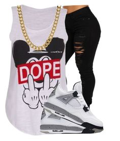 """Dope 🌴"" by rxchteeziee ❤ liked on Polyvore featuring OBEY Clothing and King Ice"