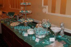 Tiffany blue wedding bridal shower candy bar