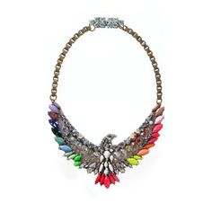 Shourouk Phenix Rainbow Necklace Benna.co.uk