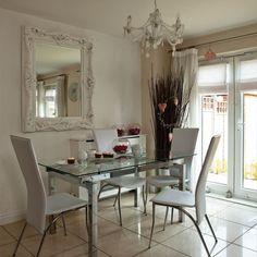 Esszimmer Wohnideen Möbel Dekoration Decoration Living Idea Interiors home dining room - Moderne Glas und Chrom Esszimmer