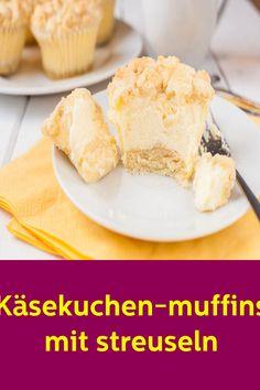 kasekuchen muffins mit streuseln #kasekuchen #muffins #streuseln #Kuchen Muffins, Cereal, Dairy, Cheese, Breakfast, Food, Sprinkles, Food And Drinks, Food Food