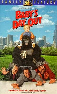 Baby's Day Out [VHS]: Three enterprising kidnappers successfully kidnap Baby Bink, but he is one step ahead of them and they have a hard time keeping hold of the rascal. Baby's Day Out, Days Out, Childhood Movies, Kid Movies, Movies Free, Movie Tv, Travel Movies, Free Movie Downloads, Movie Info