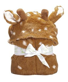Take a look at this Brown Fawn Hooded Blanket on zulily today!