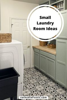 Most laundry rooms are on the smaller side, so it can be tough trying to figure out how to maximize space. Builder grade laundry room closets have a single wire shelf and no laundry room cabinets. Here are a few DIY small laundry room ideas to make the most of the space. #laundryroomideas #laundry #modernfarmhouse #greencabinets Laundry Room Cabinets, Green Cabinets, Small Laundry Rooms, Builder Grade, Maximize Space, Room Closet, Wire Shelving, Mudroom, Closets