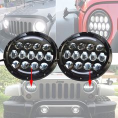 """==> [Free Shipping] Buy Best DOT E-mark Mark 4X4 4WD SUV auto Daytime running Head light Headlamp 105W 7"""" inch round headlight Led for Jeep Wrangler Hummer Online with LOWEST Price 