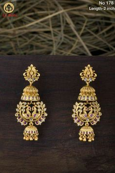 Gold Jewellery Design, Gold Jewelry, Gold Necklaces, India Jewelry, Diamond Earrings, Ear Rings, Beads, Collection, Beading