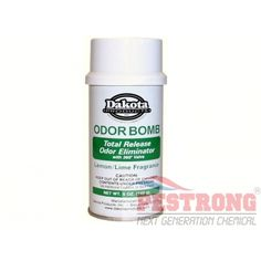 Dakota  Odor Bomb Total Release - 5 oz eliminates all types of malodors caused  from urine, feces, decay, rancidity, fire, tobacco smoke,  cooking and  mildew. Each Dakota Odor Bomb Total Release - 5 oz can treat 6000 cubic feet, or the  size of a typical hotel room.  Many other uses as well, such as motor  homes, boats, etc. This is same of timemist brand of Duel Odor Eliminator which has been discontinued currently. Do  not set off entire can in a car interior.  Just spray a few sprays…