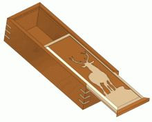 Sliding lid box with spline mitre woodworking joints plan