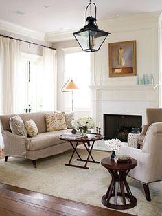 living room...love that lantern