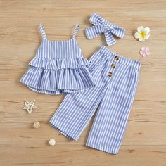 Check out this great stuff I just found at PatPat! Check out this great stuff I just found at PatPat! Solid / … Check out this great stuff I just found at PatPat! Solid / Striped Ruffled Camisole Top and Pants, Headband for Baby / Toddler Girl - Kids Dress Wear, Toddler Girl Dresses, Little Girl Dresses, Frocks For Girls, Girl Toddler, Dresses For Toddlers, Cotton Frocks For Kids, Cute Baby Dresses, Girls Dresses Sewing