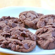 Chocolate Chocolate Chip Cookies I Allrecipes.com - best (batter ;D ) i've ever had!