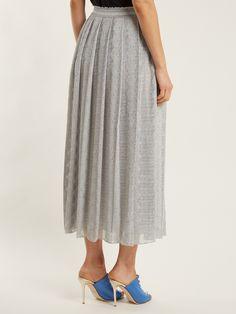 Lace-trimmed pleated knit midi skirt | Missoni | MATCHESFASHION.COM UK