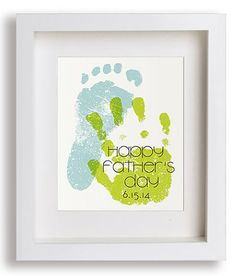 Personalized Father's Day Gifts for Him: First Father's Day Hand and Footprint Artwork Print by Niko and Lily @ Etsy