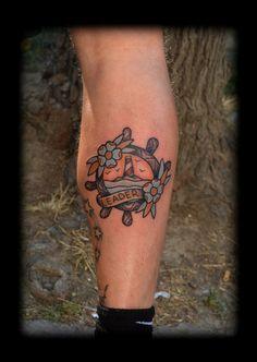 old school rudder tattoo