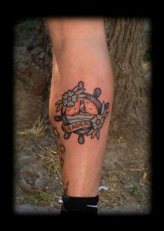 old school rudder tattoo