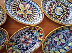"8"" oval plates sold in sets of 6"