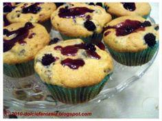 Ricetta Muffin more e limone e fava tonka