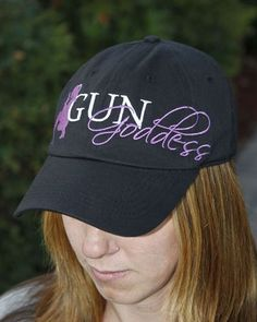 390f06df978dfa Embroidered Handgun Silhouette Cap is has a silhouette of woman with a  handgun and our signature logo. Shop Gun Goddess now for this gun cap and  more!