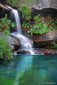 Waterfall Upper Gledhill Falls in Ku-ring-gai Chase National Park, Sydney, Australia awesome mother nature top of the world Beautiful Waterfalls, Beautiful Landscapes, Beautiful World, Beautiful Places, Beautiful Wife, Nature Pictures, Amazing Nature, The Great Outdoors, Wonders Of The World