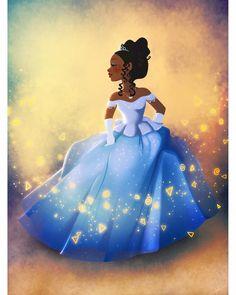 Dylan Bonner Disney Brandy as Cinderella Film Disney, Arte Disney, Disney Fan Art, Disney Love, Disney Magic, Black Girl Cartoon, Black Girl Art, Black Women Art, Art Girl