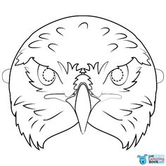 Hawk Mask Coloring Page Free Printable Coloring Pages Inside Cockatoo Mask Coloring Pages Flamingo Coloring Page, Owl Coloring Pages, Free Printable Coloring Pages, Coloring Books, Owl Facts, Bird Crafts, Paper Crafts, Mask Drawing, Bird Masks