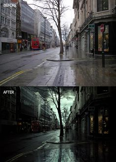 Create a Rainy Scene of London City in Photoshop #bestof2017 #photoshoptutorials #freetutorials #photomanipulation #retouch #tuts