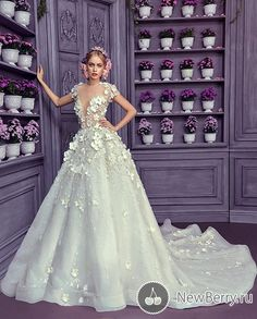 >> Click to Buy << Newest Wedding Dresses Elegant A line Bridal Dresses Lace Appliques with Beading Flowers Handmade Bridal Gowns  #Affiliate