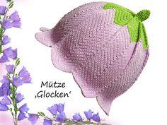 #129+Mütze+'Glocken'+-+Häkelanleitung+für+Mädchen+von+Natalija+auf+DaWanda.com