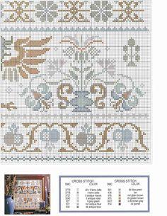 Dmc Cross Stitch, Cross Stitch Borders, Cross Stitch Designs, Cross Stitching, Cross Stitch Patterns, Embroidery Sampler, Diy Embroidery, Cross Stitch Embroidery, Embroidery Patterns