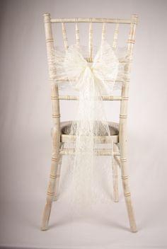 Limewash Chiavari chair with a simple lace bow Chivari Chairs Wedding, Wedding Chair Sashes, Chiavari Chairs, Lace Wedding Decorations, Chair Decoration Wedding, Leather Wingback Chair, Restaurant Chairs For Sale, Chairs For Small Spaces, Lace Weddings