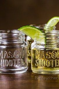 Mason jar shot glasses that make vodka shots worth it.