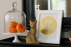 Give Thanks Print - more colors to choose from - free printable for Thanksgiving