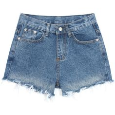 High Waist Denim Shorts In Loose Fit ($21) ❤ liked on Polyvore featuring shorts, bottoms, denim shorts, stylemoi, blue, loose jean shorts, jean shorts, short jean shorts, blue shorts and high rise shorts