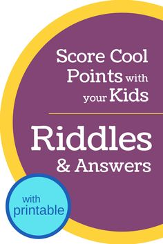 Riddles for kids are great for getting kids to think and for making them laugh! These 15 riddles have answers (and include a printable). Funny Riddles, Jokes And Riddles, Funny Jokes For Kids, Kid Jokes, Kids Riddles With Answers, Riddles Kids, Mind Riddles, Mystery Riddles, Psicologia