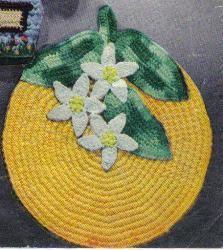free crochet orange potholder pattern
