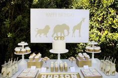 golden safari 1st birthday