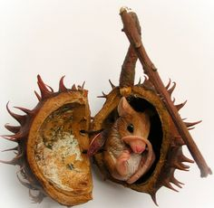 Chestnut Fairy Mouse by CELIDONIA STUDIO | Polymer Clay Planet