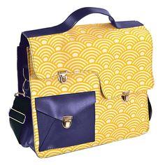 29a87ae8d Bolsa Work Bag Sonho - Carpe Diem - Amarela/Azul em Couro Sintético -  35,5x27 cm